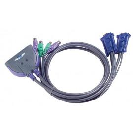 ATEN 2 ports PS/2 KVM Cable 1.2 m