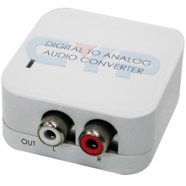 Coaxial/Optical to R/L audio Converter