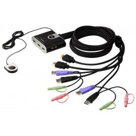 2-Port USB HDMI KVM Switch