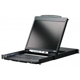 ATEN Dual Rail LCD Rack Mount Monitor KVM Switch