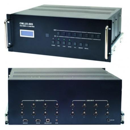 สวิทช์ HDMI 8x8 พร้อมรีโมทคอนโทรล CYP cmlux-88s