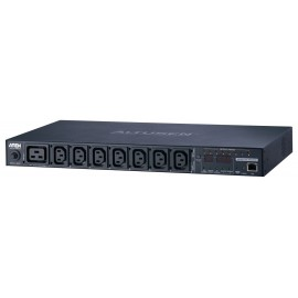Eco PDU 8 Outlet with Proactive Overload 1U Rack [Bank Level monitoring] (C13x7, C19x1) | ATEN