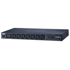Eco PDU 8 Outlet 1U Rack [Outlet Level monitoring] with Proactive Overload (C13x7, C19x1) | ATEN