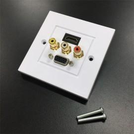 HDMI, VGA, AV (RCA) Wall Plate