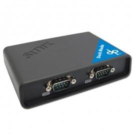 แปลง Serial RS232 2 พอร์ต เป็น LAN ช่วยเพิ่ม com port ให้พีซี, โน๊ตบุ๊ค (Dock Mode)