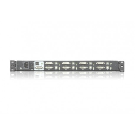 Single Rail 8-Port DVI FHD LCD KVM Switch