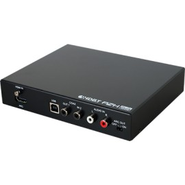 HDMI/USB over CAT5e/6 /7 Transmitter with 48V PoH, LAN Serving, and Bi-directional Coaxial Audio Return