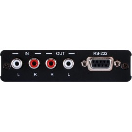 Bi-directional Stereo Audio over Single CAT5e/6/7 Transmitter with RS-232 Control