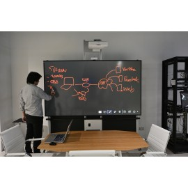 """100"""" dnp LaserPanel with Short Throw Projector & Touch Screen Support"""