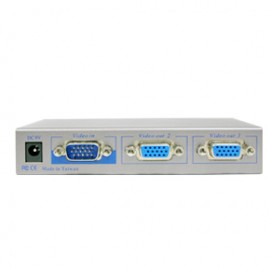VGA Video Splitter 2-Port Enhanced Video Bandwidth, Cascadable