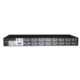 16-Port Rackmountable USB-PS/2 KVM Switch