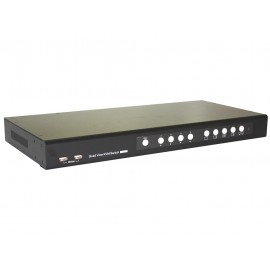 4 Port DVI Quad View KVM Switc