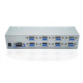 8-Port Video Splitter w/ Enhanced Video Bandwidth, Cascadable