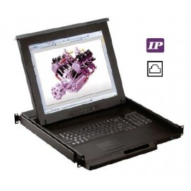 "17"" LCD Drawer  w/ 16-port  Cat6 IP KVM"