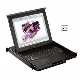 """17"""" LCD KVM Drawer 8-port Cat6"""
