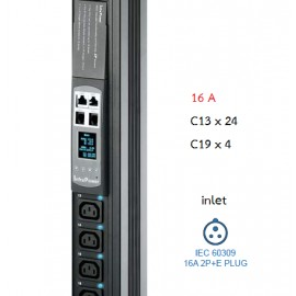Switched PDU + Outlet Measurement 16A : C13x20 + C19x4
