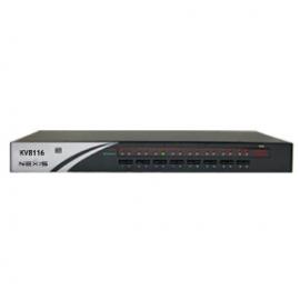 KVM Switch 16-Port Rackmountable USB-PS/2 KVM Switch w/ OSD, Daisy-Chainable