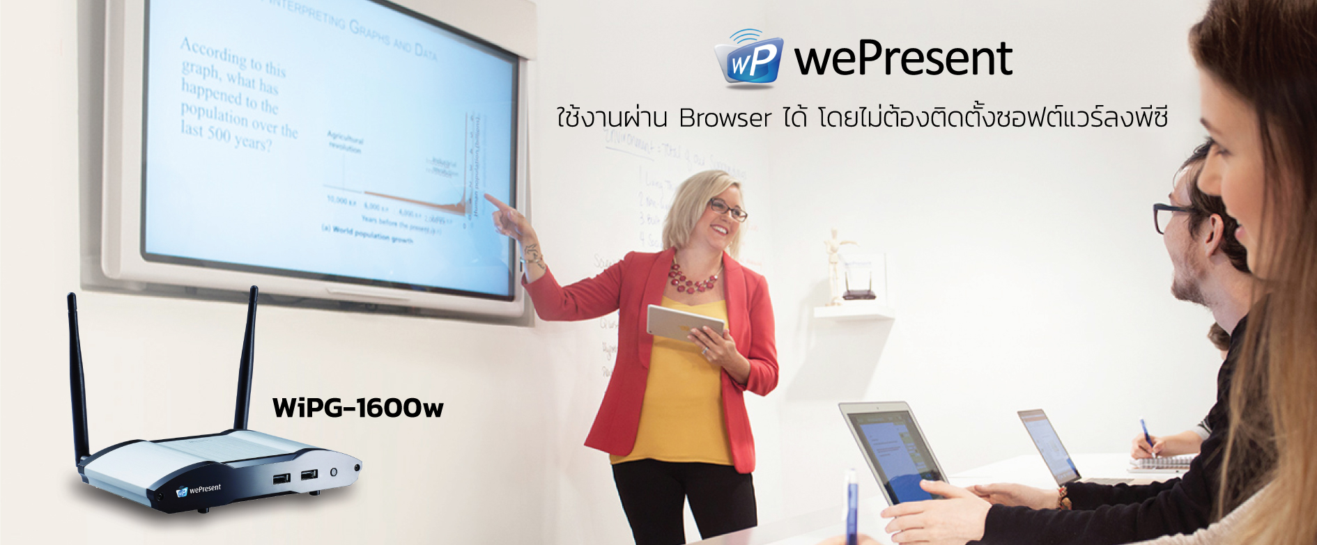 wePresent wireless presentation