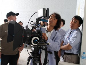 ภาพตัวอย่างการใช้งานจอ TLM-700HD กับกล้อง Canon