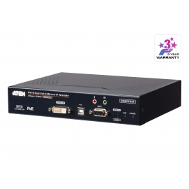 2K DVI-D Dual-Link KVM over IP Transmitter with Dual SFP & PoE