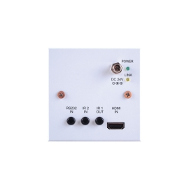 4K60 (4:2:0) HDMI over HDBaseT Wallplate Transmitter with IR, RS-232 & PoC (PSE) (2 Gang US)