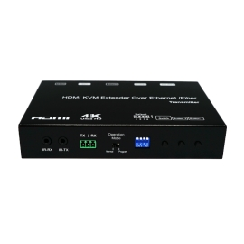 4K HDMI/USB KVM Over IP/Fiber Extender with POE (TX Unit)