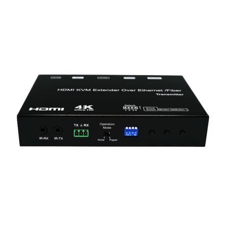 4K HDMI/USB KVM Over IP/Fiber Extender with POE (TX Unit)