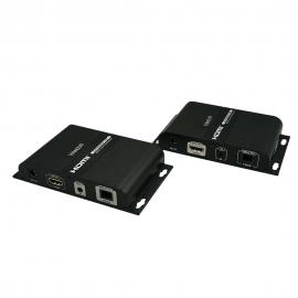 อุปกรณ์ขยายสัญญาณ HDMI over IP ผ่านสาย Fiber Optic 20KM.