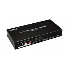 4X1 HDMI 2.0 Switch 4K@60hz (4:4:4) HDR, ARC, CEC