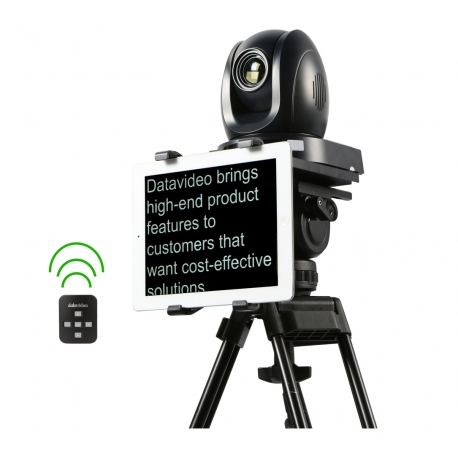 Teleprompter system dedicated to PTZ cameras