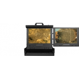 """19"""" 4:3 Dual display console drawer (RH mounted)"""