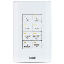 ATEN Control System - 8-button Keypad (US, 1 Gang)