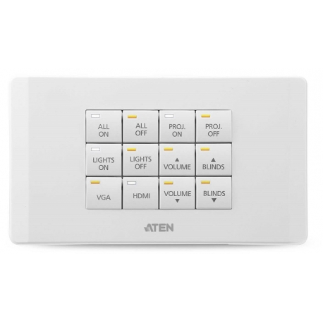 ATEN Control System - 12-button Keypad (EU, 2 Gang)