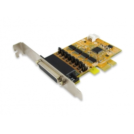 4-port RS-232 High Speed PCI Express Board with Power Output