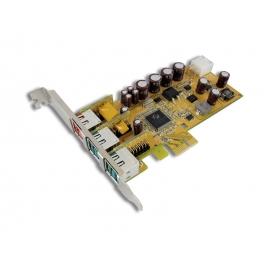 1-port 24V & 2-port 12V Powered USB PCI Express Add-On Card