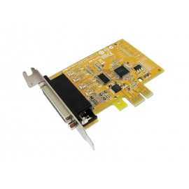 1-port RS-232 & 1-port Parallel Low Profile PCI Express Multi-I/O Board