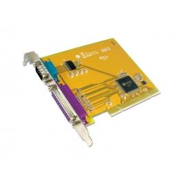 1 port RS-232 & 1 port Parallel Universal PCI Multi-I/O Board