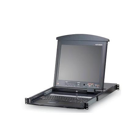 "LCD KVM 16 Port Cat 5 High-Density Dual Rail 17"""