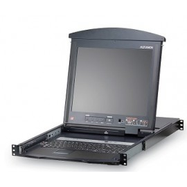 LCD KVM 16 Port Cat 5 High-Density Dual Rail 19""