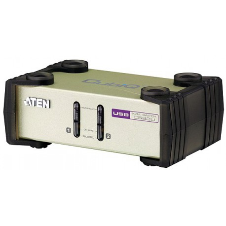 2-Port PS/2-USB KVM Switch
