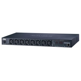 Eco PDU 8 Outlet 1U Rack [Outlet Level monitoring] with Proactive Overload (8xC13) | ATEN