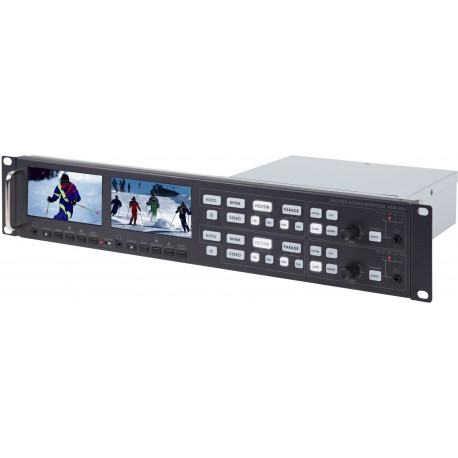 2U Rackmountable Monitoring Vectorscope with Dual Monitoring Vectorscope