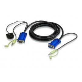 3m VGA/Audio Cable built-in Port Switching