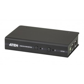 2-Port USB DVI KVM Switch