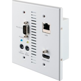 HDMI over CAT5e/6/7 Wallplate Receiver with Bi-directional 24V PoC and LAN Serving