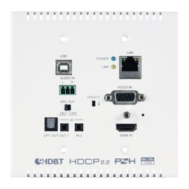 HDMI over HDBaseT Wallplate Transmitter (PD) with USB and Optical Audio Return