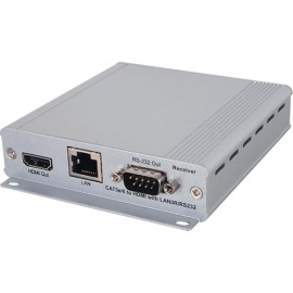 HDMI over CAT5e/6/7 Mountable Receiver with Bi-directional 24V PoC and LAN Serving