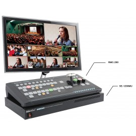 6-CH Video Switcher with Control Panel