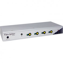4-Port Video Splitter with output switch on/off