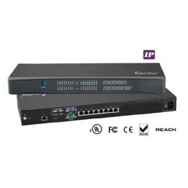 IP KVM Switch 8-port Combo Cat6